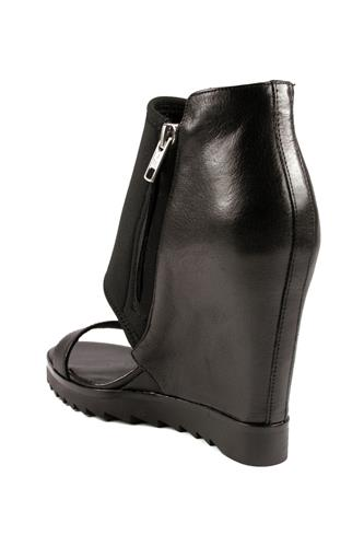 Lucky Neoprene Black Nappa Leather