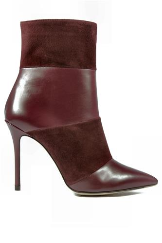 High Heels Ankle Boot Bordeaux Suede Leather, ROBERTO FESTA