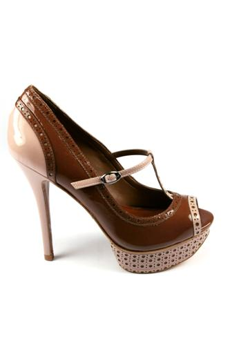 SCHUTZOpen Toe Shoes Brown Liquor Cream