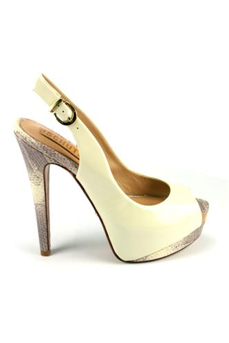 SCHUTZChanel White Patent Leather Python