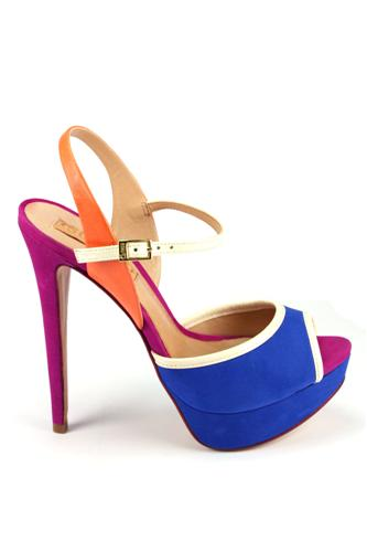SCHUTZSandal Blue Orange Cream Purple