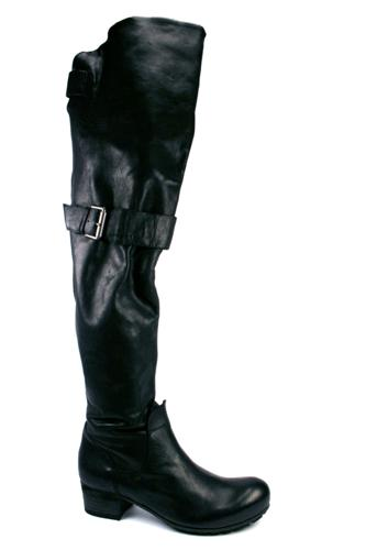 High Boots Black Leather, VIC MATIE