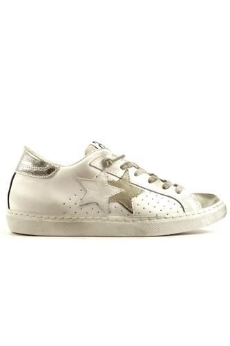 2SD Low White Leather Ice Suede Silver Laminate, 2STAR