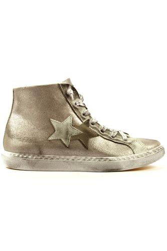 2SD Silver Laminated Leather White Beige Suede, 2STAR