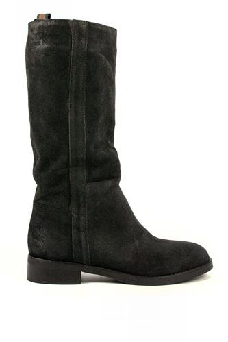 LATIKABoots Black Aged Suede