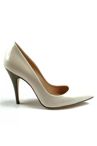 GIBELLIERIDecollete White Patent Leather