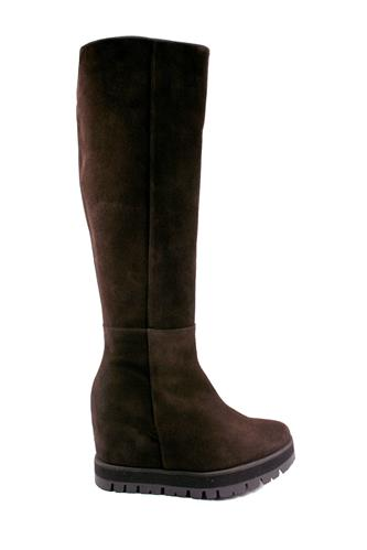 PALOMA BARCELO'Palomitas Boots Dark Brown Silk Tundra