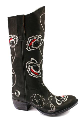 Camperos Black Flowers, SENDRA BOOTS