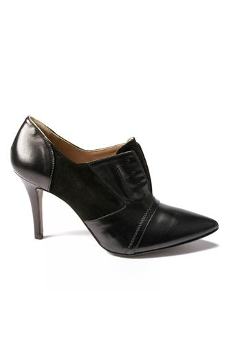 Ankle Boots Black Leather and Suede, PATRIZIA DI STEFANO