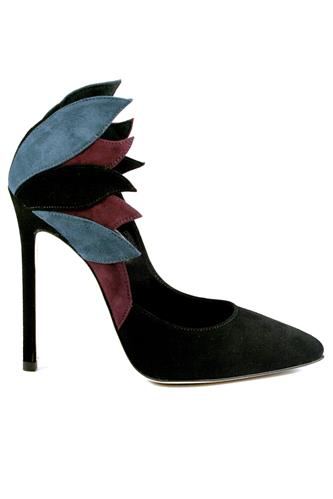 GIBELLIERIAir Patchwork Suede Black Blue Wine