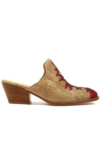 MINA BUENOS AIRESAroa Hazelnut Lomè Leather Red Ayers White