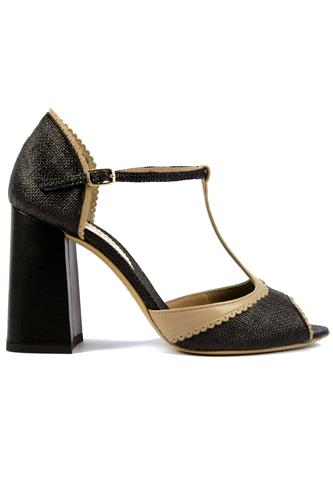 MINA BUENOS AIRESCarlotta Black Rafia Sand Leather