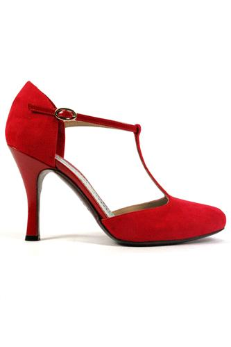 Carmen Suede Red Patent Leather, MINA BUENOS AIRES