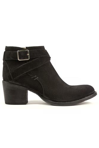 DUCCIO DEL DUCALow Buckle Boot Black Milano Suede