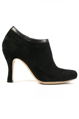 MINA BUENOS AIRESDeborah Black Suede Leather Profile