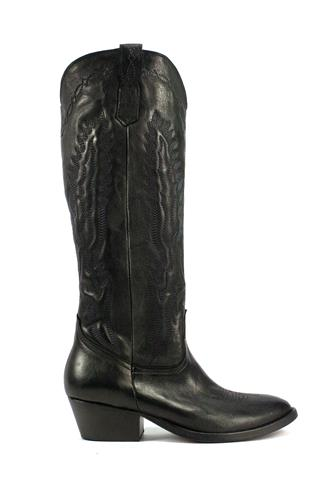 OASITexan High Boots Black Leather