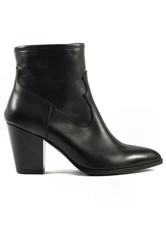 GIOIA A.Zip Boot Black Leather