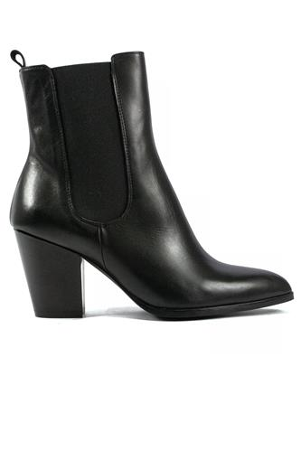 GIOIA A.Double Band Boot Black Leather