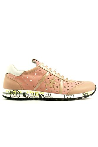 Lucy D Perforated Nylon Pink Leather, PREMIATA