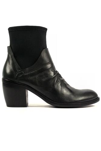 OASIBoot Black Leather Neoprene