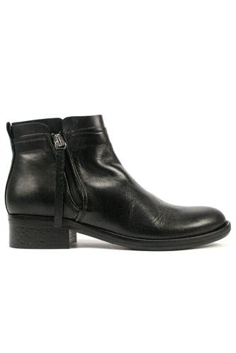 OASIDouble Zip Boot Black Leather