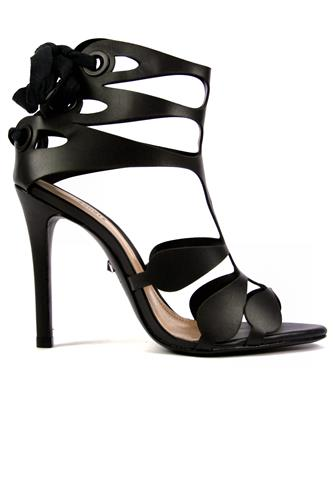 SCHUTZHigh Sandal Black Leather