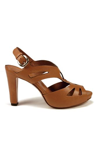LENA MILOSPlateau Sandals Carved Leather