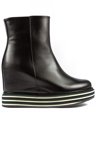 PALOMA BARCELO'Virginia Multi Green Flat Black Leather