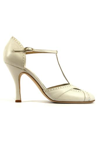 MINA BUENOS AIRESViola White Cream Nappa Leather